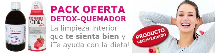 Oferta Pack Detox quemador La Herboristeria Online