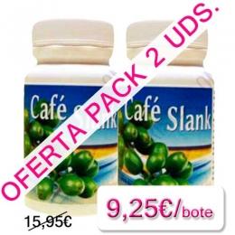 OFERTA 2 uds. Cafe Slank caf� verde Espadiet 60 c�psulas - OFERTA Cafe Slank de Espadiet pack 2 uds. Es un suplemento a base de extracto de caf� verde con bajo contenido en cafe�na y 200 mg. de caf� verde por c�psula (400 mg. por la toma de 2 c�psulas).