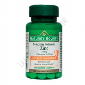 Zinc 25 mg. Natures Bounty 100 comprimidos -