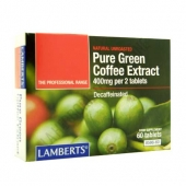 Green Coffee - Extracto de caf� verde puro descafeinado Lamberts 60 comprimidos - Green Coffee Extract de Lamberts es un complemento descafeinado, dise�ado para personas que siguen una dieta de p�rdida de peso con control de calor�as.