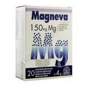 Magneva Magensio Efervescente Kiluva 20 comprimidos  - Magneva es una forma pr�ctica de aporte de Magnesio asimilable (150 mg.), mediante comprimidos efervescentes de agradable sabor.