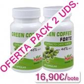 OFERTA 2 uds. Green Coffee Forte 45% Plantapol 60 c�psulas - OFERTA Green Coffee Forte Extracto de Caf� verde Plantapol con 45% GCA (�cido Clorog�nico) pack 2 uds. (La unidad sale a 16,90�). Es un suplemento a base de extracto de caf� verde reforzado con FOS (fructoolilgosac�ridos) y Cromo.