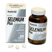 Selenio Plus Health Aid comprimidos - Selenium Plus de Health Aid es una formulaci�n de Selenio reforzado con vitaminas A, C, E y el mineral zinc, una potente combinaci�n antioxidante con gran capacidad de captaci�n de los radicales libres.