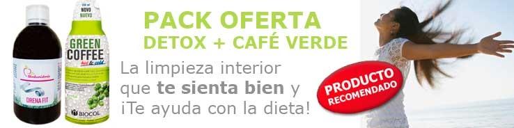 oferta pack deprativo y cafe verde Biocol