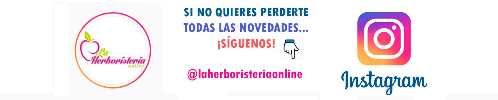 siguenos en instagram @laherboristeriaonline