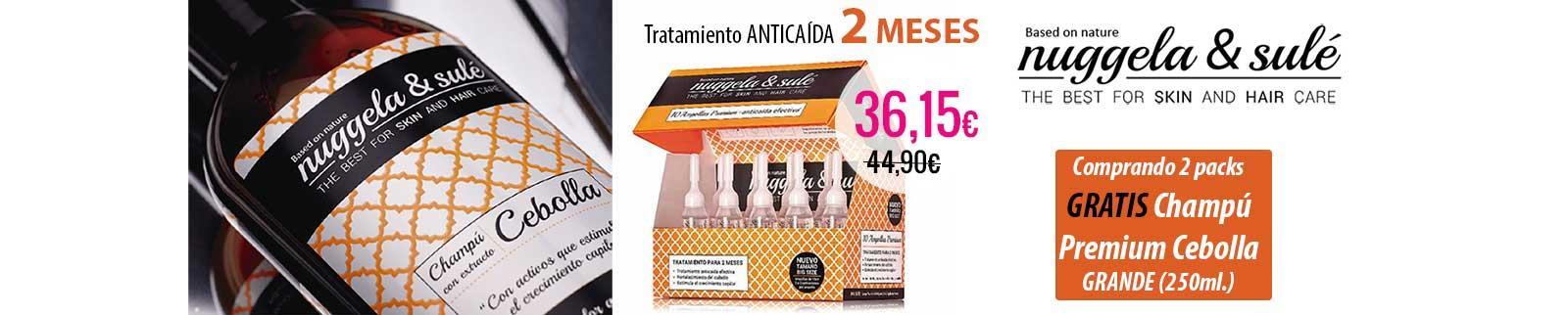 Oferta pack anticaida nuggela sule ampollas gratis champu cebolla