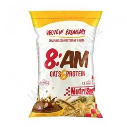 8AM Desayuno Proteico con Avena sabor chocolate Nutrisport 650 gr. -