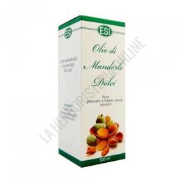 Aceite de Almendras Dulces Alimentario ESI 500 ml. - El Aceite de Almendras Dulces Esi es un producto natural obtenido del prensado en frío de las almendras dulces. Tomando internamente, ayuda a las digestiones y actúa como laxante suave.