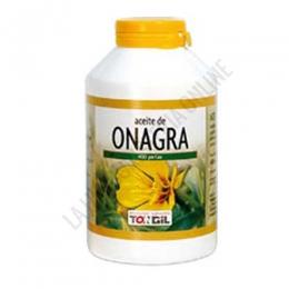 Aceite de onagra Tongil (400 perlas) - Tarro de 400 perlas de aceite de Onagra prensado en frío (rico en ácidos grasos poliinsaturados de la serie Omega 6) y vitamina E.