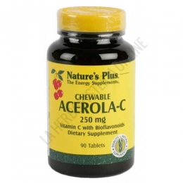 Acerola C 250 mg. Natures Plus 90 comprimidos masticables -