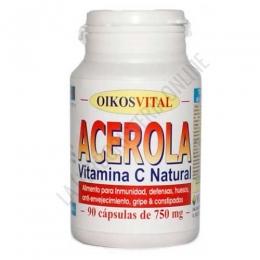 Acerola con Vitamina C Oikos 750 mg. 90 cápsulas -
