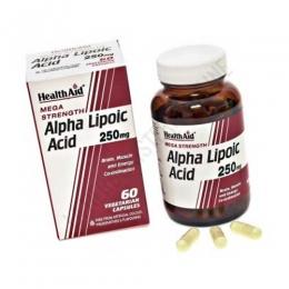 Ácido Alfa Lipoico Health Aid 60 cápsulas - Alpha Lipoic Acid de Health Aid es un antioxidante utilizado para ayudar a neutralizar los radicales libres potencialmente dañinos como las moléculas de toxinas, que causan daño oxidativo a las células.