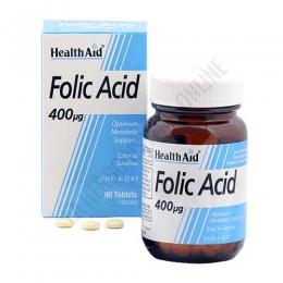 Ácido fólico Health Aid 90 comprimidos - El ácido Fólico 400 µg de Health Aid se presenta en comprimidos fáciles de tragar y de cómoda administración
