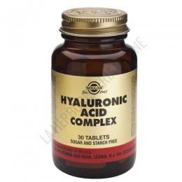Ácido Hialurónico Complex Solgar 30 comprimidos - Hyaluronic Acid Complex de Solgar, a base de Biocell Collagen II© (aporta colágeno hidrolizado, condroitina y ácido hialurónico) y vitamina C ayuda a la protección de las articulaciones y a la mejora del estado de la piel madura.