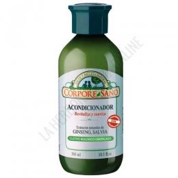 Acondicionador revitalizante Ginseng y Salvia Corpore Sano biológico 300 ml. -