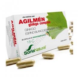 Agilmen 18-C Soria Natural 60 cápsulas - Agilmen de Soria Natural es una composición a base de Ginkgo y Espino blanco, especialmente útil para ayudar a vigorizar la mente en caso de trastornos circulatorios cerebrales. PRODUCTO DESCATALOGADO POR EL LABORATORIO FABRICANTE.