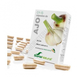 Ajo 1-S Soria Natural 60 cápsulas - Las cápsulas de Ajo de Soria Natural aportan todos los beneficios tradicionalmente conocidos del Ajo como sus propiedades circulatorias y antisépticas.PRODUCTO DESCATALOGADO POR EL LABORATORIO FABRICANTE.