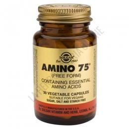Amino 75 Aminoácidos Esenciales en forma libre Solgar 30 cápsulas - Amino 75 de Solgar es una formulación que contiene 75 mg. de cada uno de 8 aminoácidos esenciales en forma libre, para una máxima absorción y utilización.