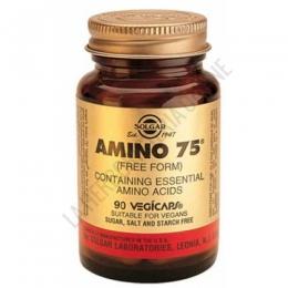 Amino 75 Aminoácidos Esenciales en forma libre Solgar 90 cápsulas - Amino 75 de Solgar es una formulación que contiene 75 mg. de cada uno de 8 aminoácidos esenciales en forma libre, para una máxima absorción y utilización.