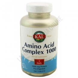 Amino Acid Complex 1000 Kal 100 comprimidos - Amino Acid Complex 1000 de Kal es una fórmula de 1000 mg. que contiene los 9 aminoácidos esenciales más otros aminoácidos predigeridos para su mejor absorción y utilización por parte del organismo.
