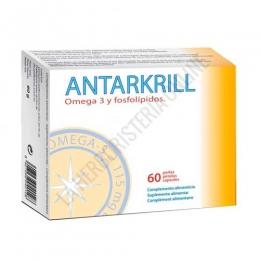 Antarkrill Aceite de Krill 500 mg. Bioserum 60 perlas - Antarkrill de Bioserum es un complemento alimenticio a base de aceite de krill de alta biodisponibilidad. 3 perlas aportan 262,5 mg. de omega-3 (180 mg. EPA + 82,5 mg. DHA) y 120 mcg de astaxantina.