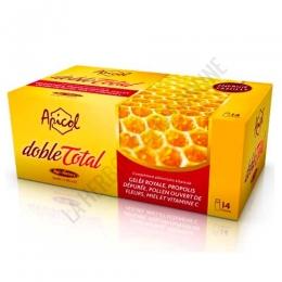 Apicol DobleTotal Tongil 14 viales - Apicol Doble Total de Tongil es una potente combinación de los mejores ingredientes de la colmenta: Jalea Real liofilizada + Própolis + Polen abierto + Miel, presentada en prácticos viales.