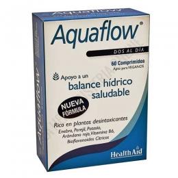 Aquaflow Health Aid comprimidos - Aquaflow comprimidos de Health Aid es una combinación de hierbas de alta calidad, arándano rojo, bioflavonoides cítricos, potasio y vitamina B6 que contribuye a mantener el nivel adecuado de agua en el organismo y al cuidado de las vías urinarias.