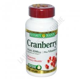 Arándanos agrios americanos Natures Bounty 100 perlas - Cranberry Fruit de Natures Bounty con vitaminas C y E es una fórmula de vitaminas y frutos de arándano específica para el cuidado del sistema urinario. PRODUCTO DESCATALOGADO  POR EL LABORATORIO FABRICANTE. Como alternativa sí disponible le recomendamos:  Concentrado de Arándano Rojo Natures Bounty 60 comprimidos -Pulse aquí para ver el producto.