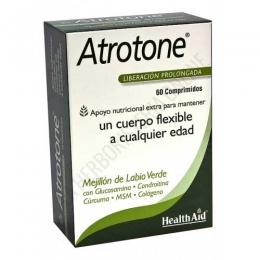 Atrotone Health Aid 60 comprimidos - Atrotone de Health Aid es una fórmula especialmente diseñada para ayudar a mantener unas articulaciones y un cartílago sanos y flexibles, así como unos huesos fuertes.
