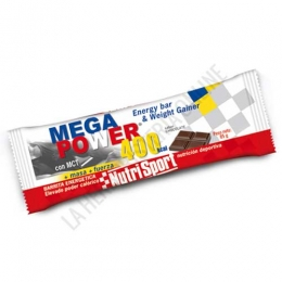 Barrita Mega Power 400 Kcal. Nutrisport sabor chocolate 85 gr.