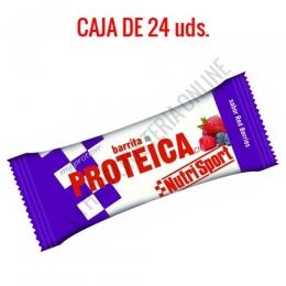 Caja 24 barritas Proteicas Nutrisport sabor red berries 46 gr.