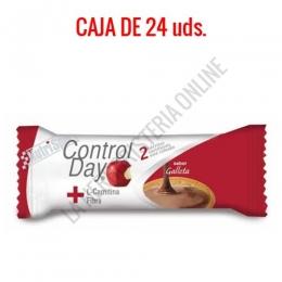 Barritas sustitutivas ControlDay NutriSport sabor galleta caja de 24 uds.