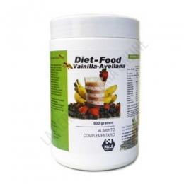 Batido Diet Food sustitutivo comida sabor Vainilla y Avellana Nale 500 gr.