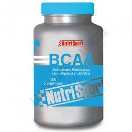 BCAA Aminoácidos ramificados Nutrisport 1 gr. 100 comprimidos - Los Aminoácidos Ramificados BCAA de Nutrisport contienen además L-Arginina y L-Ornitina, fórmula completa para favorecer la síntesis proteica y la regeneración del tejido muscular.