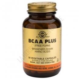 BCAA Plus Aminoácidos Ramificados en forma libre Solgar 50 cápsulas - BCAA Plus de Solgar contiene Aminoácidos Ramificados (leucina, isoleucina y valina) en forma libre + vitamina B6, para una máxima absorción y utilización.