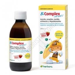 BI Complex infantil jarabe Herbora 250 ml. - Bicomplex Infantil es una composición a base de plantas y oligoelementeos, ideal para niños de 2 a 9 años de edad para ayudar a reforzar las defensas del organismo. Además, les aporta un plus de vitalidad.