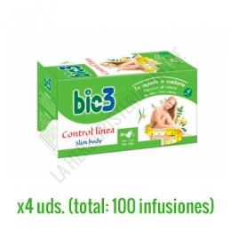 Bie 3 Control línea 100 infusiones Bio 3 - Bio 3 Control Línea es una formulación específica de plantas especialmente indicada para complementar dietas de control de peso contribuyendo a eliminar líquidos, grasas y toxinas, tomada de forma habitual.