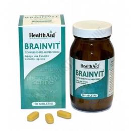 BrainVit Health Aid 60 comprimidos - Brainvit de Health Aid contiene vitaminas, aminoácidos, antioxidantes y plantas que ayudan a mantener un buen flujo sanguíneo hacia y desde el cerebro propiciando la claridad mental, la memoria y el conocimiento.