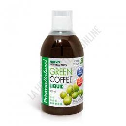 Green Coffee Liquid + Cetona de Frambuesa y Mango Africano Prisma Natural 500 ml. - Green Coffee Liquid de Prisma Natural es una formulación de Café verde bajo en cafeína (2%), mango africano y cetona de frambuesa, potenciada con cebolla y ortosifón para conseguir un producto muy completo para guiar hacia una pérdida de peso.