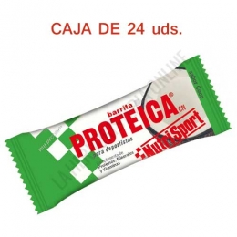 Caja 24 barritas Proteicas Nutrisport sabor coco 46 gr.