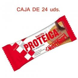 Caja 24 barritas Proteicas Nutrisport sabor galleta 46 gr. -