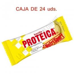 Caja 24 barritas Proteicas Nutrisport sabor plátano 46 gr.