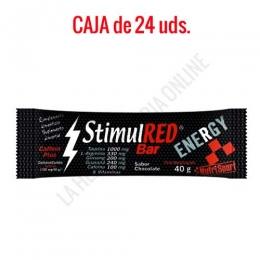Caja 24 uds. barritas energéticas StimulRed Bar Nutrisport chocolate 40 gr.