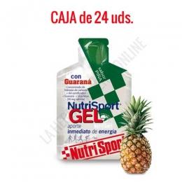 Gel con Guaraná Nutrisport sabor piña caja de 24 uds.