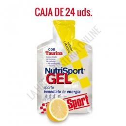 Gel con taurina Nutrisport sabor limón caja de 24 uds.