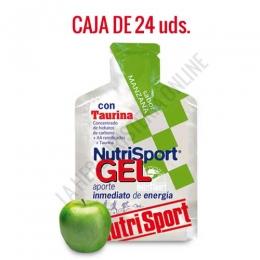 Gel con taurina Nutrisport sabor manzana caja de 24 uds.