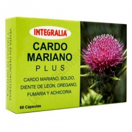 Cardo Mariano Plus Integralia 60 cápsulas - Cardo Mariano Plus de Integralia es una completa combinación de plantas que ayudan a la salud y protección del hígado, facilitando su detoxificación y buen funcionamiento.