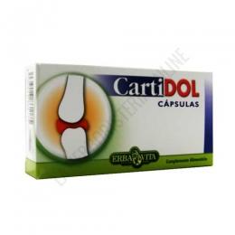 Cartidol Erbavita 60 cápsulas - PRODUCTO DESCATALOGADO POR EL LABORATORIO FABRICANTE. Como alternativa sí disponible le recomendamos: Regendol de Eladiet -Pulse aquí para ver el producto.