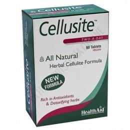 Cellusite Health Aid 60 comprimidos - Cellusite de Health Aid es una completa  formulación especialmente indicada para ayudar al organismo a depurar toxinas, mejorando la circulación y reduciendo la posible formación de celulitis.