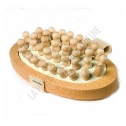 Cepillo de madera para masaje anticelulítico aprox. 13,5 cm. -